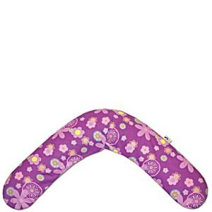 Подушка для беременных и кормящих Theraline Тералайн Германия 190 см Цветочки фиолетовая