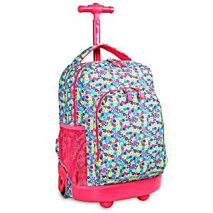 Школьный рюкзак на колесах JWORLD SUNNY Цветочки