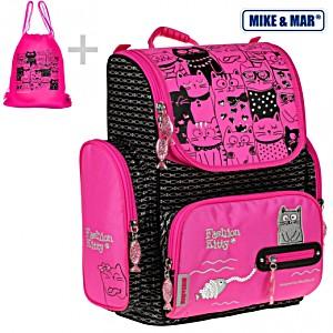 Школьный рюкзак Mike&Mar Майк Мар Котик арт. 1074-ММ-508 + мешок