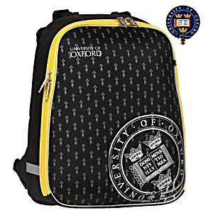 Школьный рюкзак OXFORD 1008-ОХ-4 черный/желтый кант